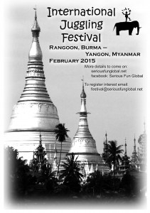 Poster Juggling Festival burma myanmar Feb 2015