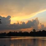 sunset clouds in burma