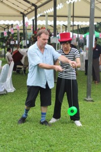 Great Britain Day Out - Diabolo training