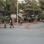independence day footie in Yangon