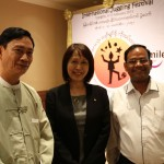 From left U Kyaw Oo (Principle Training School for Boys Thanlyin), Shangrila manager, Myo Win Smile Director