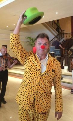 Mr Jules welcomes hotel visitors. Photographer: Alice Vernat