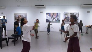 jugglers at Yangon Gallery
