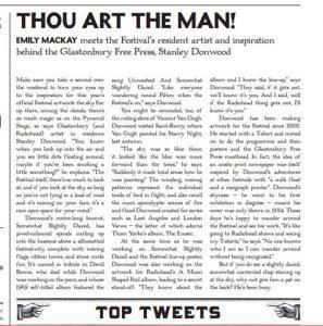 Glastonbury Free Press article