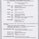 Programme  Kiwi Film Festival 1995 Thailand