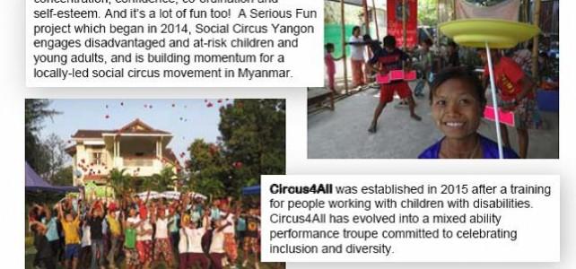 Social Circus Weekend flyer