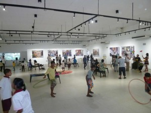 Juggling at Yangon Gallery