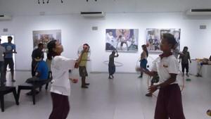 jugglers at Yangon Gallery
